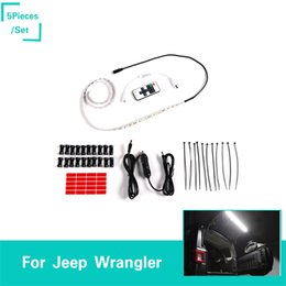 Car Lights Australia - Car Tailgate Glass Lift Door Light Led Lamp for Jeep Wrangler TJ JK JL 1997-2019 Rear Tail Trunk Light Car Accessories