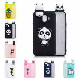 panda covers Australia - Pasted 3D Funny Panda Dog Cat Pineapple for Samsung Galaxy J4 EUR Case Cover Sticking a Little Silicon Doll 61 Models Option