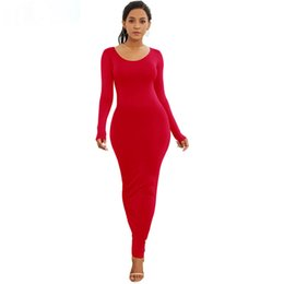 long sleeve maxi dresses Australia - Long Sleeve Maxi Dress Elastic Women Sexy Dresses 2019 New Spring Summer Vestido Elegant Casual Boho Beach Bodycon Dress