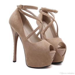 fbb5c4306b515a Sexy2019 Super Cross Strappy Plattform High Heels Pumps Damen Nachtclub  Tanzschuhe Größe zu