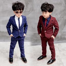 b6e9a88224846 Children Suit 3 pcs(Jackets Blazer+Pants+Shirts) Baby Boys Suits Kids  Blazer Boys Formal Suit For Wedding Boys Clothes Set