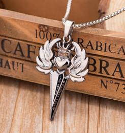 Turquoise Pendant Men Australia - Fashion Men Women Necklace High-grade Zinc Alloy Angel Crown Pattern Pendant Vintage Clavicle Chain Latest Creative Jewelry