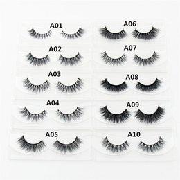 ada69fc0f4e 1 Pair 3d Handmade Eyelashes Individual Natural Long False Eyelashes Makeup  Fake Eye Lashes Extension A01-a19-d23