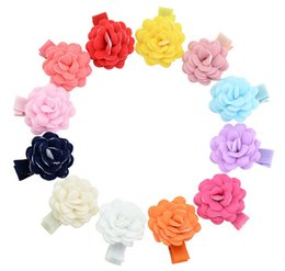 Small Hair Flower Clips Australia - 1.37 Inch Mix colors Colorful small Flower With Clip Hairclip baby Girls Floral Hairpins Children Hair Accessories 804