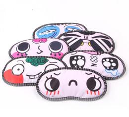 Wholesale Cute Cartoon Funny Novelty Face Sleeping Eye Mask Style