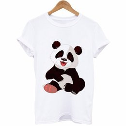 49f86193d70 Cute Panda Animal Graphic Tees T shirts Women Female Fashion Summer O Neck  2XL 3XL 4XL Plus Size T-shirts Cotton Tops