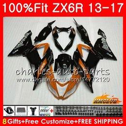 $enCountryForm.capitalKeyWord Australia - Injection For KAWASAKI NINJA ZX-636 ZX6R 13 14 15 2013 2014 2015 32NO.126 ZX-6R ZX 636 600CC orange black ZX 6R 2016 2017 16 17 OEM Fairing