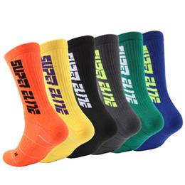 $enCountryForm.capitalKeyWord Australia - 10 Styles Elite Sports Socks Letter Towel Bottom Fashion Men Socks Trend Fluorescent Color Non-Slip Basketball Socks High Quality M158Y