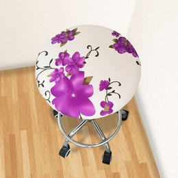 $enCountryForm.capitalKeyWord NZ - 2019 Round Chair Cover Bar Stool Cover Elastic Seat Home Chair Slipcover Round Bar Stool Floral Printed