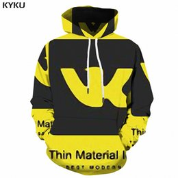 mens gothic clothing NZ - wholesale Character Hoodies Men Cotton 3d Print Hoodie Graffiti Anime Sweatshirt Long Yellow Gothic Mens Clothing Autumn Hooded Style
