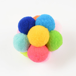 Quality pets animals online shopping - Cat Toy Stretch Ball Colorful Plush Handmade Bell Pet Supplies Soft Bite Resistance Chewing Toys Top Quality jl Ww