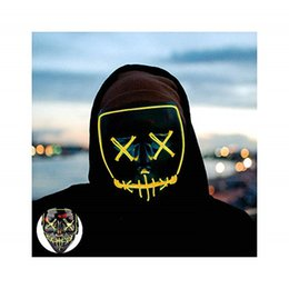 V Vendetta Cosplay UK - Funny Halloween Mask LED Mask Light Up Party Masks Neon Maska Cosplay Mascara Horror Mascarillas Glow In Dark Masque V for Vendetta