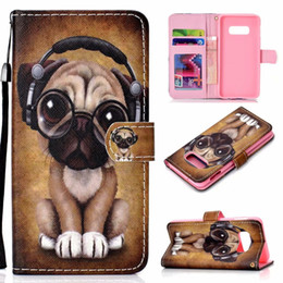 dog silicone iphone cases NZ - Leather Wallet Case For Galaxy S10 Plus S10e M10 M20 A30 Huawei P30 Pro Honor V10 10 Lite Elephant Dog Butterfly Panda Flower Flip Covers