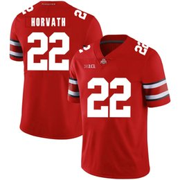 a3ca57e0e Lebron 23 Stitched Mens Ohio State Buckeyes Les Horvath 22 White Black Red  Game NCAA College Jersey