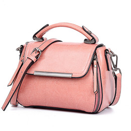 $enCountryForm.capitalKeyWord NZ - Cute Girl Sweet Style Candy Color Split Leather Messenger Bag Girl Carry-on Mobile Phone Wallet Function Fashion Messenger Bag