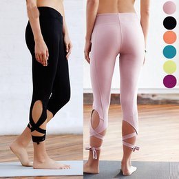 $enCountryForm.capitalKeyWord Australia - High Waist Women Sporting Leggings Sexy Bandage Mid Calf Leggins Fitnes Gymnastics Active Pants 6 Candy Color Solid Jeggings Y190603