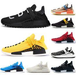 2fe0e05a6a55d Originals Human Race Hu trail x pharrell williams men women running shoes  Nerd Pale Solar Pack Afro Holi Blank Canvas mens trainers