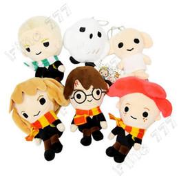 $enCountryForm.capitalKeyWord Australia - 14CM(5.5inch) Harry Potter Stuffed plush dolls toys 2019 New Ron Malfoy Hermione Dobby Hedwig Keychains Pendants Soft Gifts Plush Toys