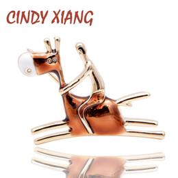 $enCountryForm.capitalKeyWord Australia - CINDY XIANG New Arrival Carton Design Ride Donkey Man Brooch Cute Fashion Animal Design Jewelry Enamel Pins 2 Colors Choose Gift