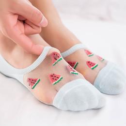$enCountryForm.capitalKeyWord Australia - Korea Style Women Socks Summer Thin Cartoon Ankle Socks Casual Fruit watermelon Peach Cherry Strawberry avocado Cute Short