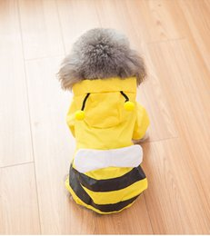 Water Proof Coatings Australia - 2019 fashion brand rain coats summer thin style four foots water-proof small pets teddy fasse poncho rain cape animal carton clothes 90526
