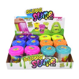 Crystal slime online shopping - DIY slime Colorful Crystal mud clay can draw slime Children Educational Handgum Intelligent Funny Toys Rocking powder puzzle toy