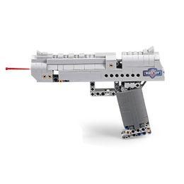 $enCountryForm.capitalKeyWord Australia - DIY SWAT Airsoft Building Block Brick Simulation Weapon Desert Eagle Replica Assault Gun Assembly Toy Plastic Pistol With Shooting Function