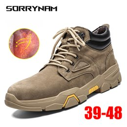 man warmer shoes for winter 2019 - 2019 Men Shoes Fashion Warm Fur Winter Men Boots Autumn Footwear For Man High Top Casual Shoes Sneakers Plus Size 39-48