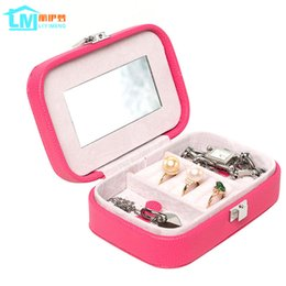 Wholesale Boxes Packaging Australia - Jewelry Storage Organizer Packaging Box Casket Box For Jewelry Exquisite Makeup Case Container Graduation Birthday Gift