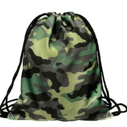 $enCountryForm.capitalKeyWord UK - Fashion Men Women Backpacks 3d Camouflage Printing Bags Men Women Unisex String Softback Drawstring Backpack 2019 Hot Sale