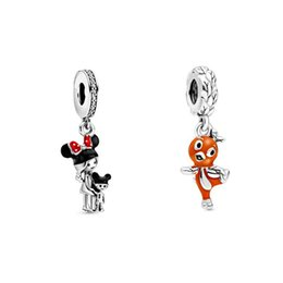 sterling silver pendant charms Canada - Parks Epcot Flower & Garden Little Florida Orange Bird Charm Mother and Child charms 925 Sterling Silver fit pendant necklace bracelets DIY