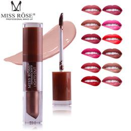 Lip gLoss 24 coLor online shopping - MISS ROSE Colors Nude Lipstick Moisturizer Matte Lip gloss Metal Color Liquid Lips Pen Beauty Makeup Cosmetics