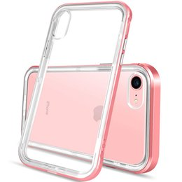 phone protective frame 2019 - Soft Clear TPU Reinforced PC Frame Protective bumper phone case crystal transparent cellphone case for iphone x xr xs ma