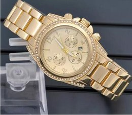 Suit watch online shopping - Fashion Luxury Man Quartz Casual Watch Double Row Crystal Diamond Modern Stylish Major Suit Women s Watch factory