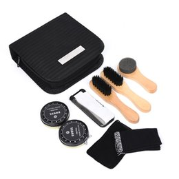 shoe storage diy Canada - Maintain Portable Nourishes DIY Travel Polishing Shine Home Repairing With Brushes Cleaning Shoe Set Shoe Brushes