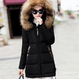 warm parkas for women NZ - Jackets Coats Winter Women Jacket Thick Parkas Casual Fur Hooded Coat For Ladies Female Warm Slim Parka Winter Jacket Femme