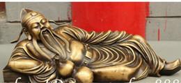$enCountryForm.capitalKeyWord Australia - Crafts Copper Bronze Brass Feng Shui Home Decoration Ornament Famous Poet Chinese Pure Bronze LiBai Li Po Drunken Gourd Statue Sculpture