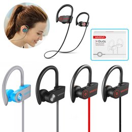 bass buds earphones UK - Wavefun X-Buds bass bluetooth headphones IPX7 waterproof wireless Neckband sports Stereo Earbuds Magnetic music earphone with mic for iPhone