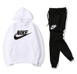 Wholesale short sleeves suits for men resale online – New Tracksuits for Women Men Hoodies Sweatshirts Suits Fashion Autumn Man Hoodies Sweatshirts Mens Clothing unisex coat with pants FSSS12118