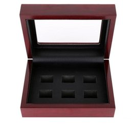Chinese  Wooden Box Championship Ring Display Case Wooden Boxs For Ring 2 3 4 5 6 Holes To Choose Rings and Collection Free Shipping manufacturers