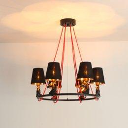 Bedroom Chandeliers Candles Australia - Simple Black Chandelier Iron Lights Chandeliers Suspension Light for Bedroom Restaurant Lighting Candle Home Lighting New Fixtures