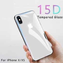iphone glass screen protector front back Australia - 15D Front And Back Screen Protector Glass For iPhone X Full Cover Tempered Glass On The For iPhone XR Xs Protection Film
