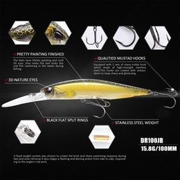 fishing depth NZ - 100dr Fishing Lure 100mm 15.8g Suspend Wobbler Minnow Depth 2-3m Bass Pike Bait Mustad Hooks