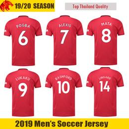 0a5de2bbd87 Thailand POGBA LINGARD 18 19 20 manchester soccer united jerseys utd 2019  2020 RASHFORD football kit MARTIAL jersey shirt men and kids sets