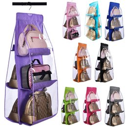 Wholesale Home Furnishing Behind door Wardrobe Garage degree hook Double sided layer High capacity Multi function Storage dustproof bags
