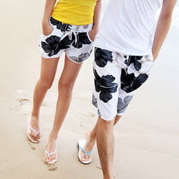 floral board shorts Canada - Hot sale!! Discount Floral Lovers pants Board shorts for men women short pants High quality Couple shorts Free shipping