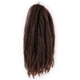 Discount 18inch wig - 18inch Artificial Dreadlocks Decoration Curly Big Wave Styling Women Wig Hairdressing Realistic Synthetic Hair Salon For