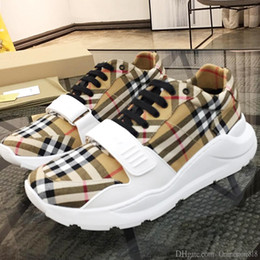 Hommes Chaussures Luxe Respirant Sport Top Qualité Sport Chaussures Casual Chaussures de hombre Vintage Check Sneakers Cotton BB495 Chaussures Hommes en Solde