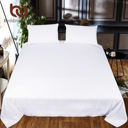 $enCountryForm.capitalKeyWord Australia - BeddingOutlet Solid Color Bed Sheet One Piece White Black Red Flat Sheet Microfiber Soft Bedding Bedspreads Twin Full Queen King