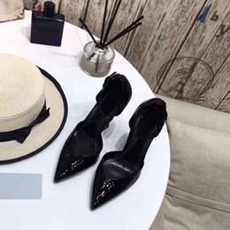 $enCountryForm.capitalKeyWord Australia - New designer high-heeled shoes patent leather fashion pointed sandals women's pointed dress Valentine's Day wedding high-heeled sandals